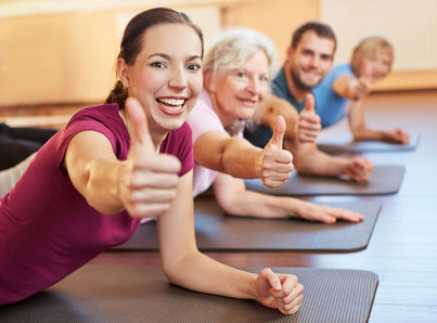 yoga im fitnessstudio